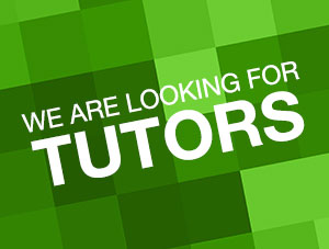 We are looking for tutors!