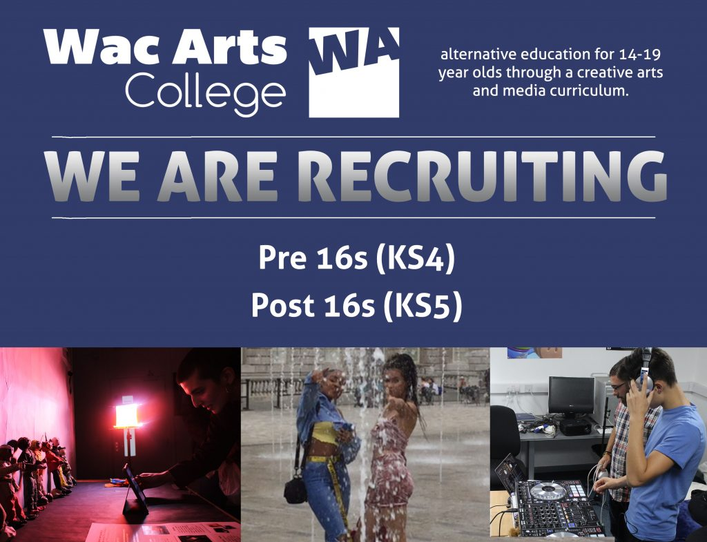 We Are Recruiting for KS4 and KS5